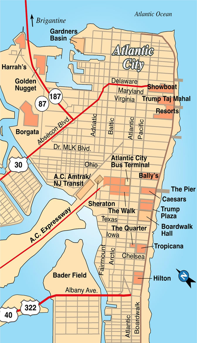 Map of Atlantic City